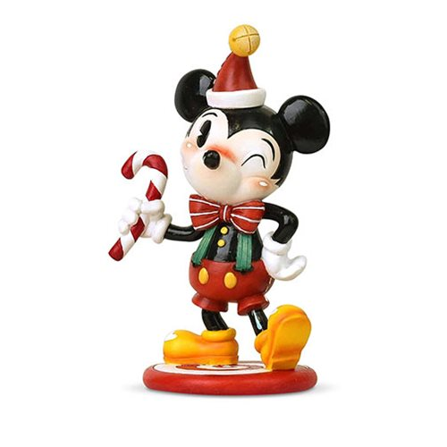 Disney The World of Miss Mindy Christmas Mickey Mouse Statue
