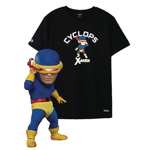 X-Men Cyclops Classic Costume Version EAA-085DX Action Figure with X-Large T-Shirt - Previews Exclusive