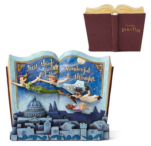 Disney Traditions Peter Pan Storybook Statue