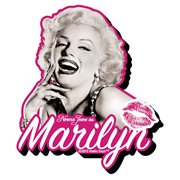 Marilyn Monroe Black and White and Pink Funky Chunky Magnet