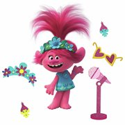 Trolls World Tour Poppy with Glitter Peel and Stick Giant Wall Decals