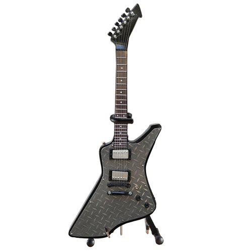 "Metallica James Hetfield ""Diamond Plate"" Miniature Guitar Replica"