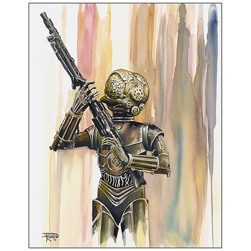 Star Wars 4-LOM Bounty Hunter Collection Fine Art Lithograph