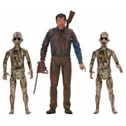 Ash vs. Evil Dead Bloody Ash vs. Demon Spawn 7-Inch Scale Action Figure 3-Pack
