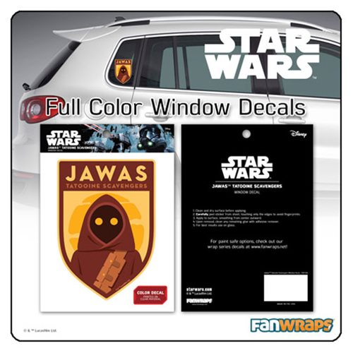 Star Wars Jawa Tatooine Scavengers Window Decal