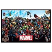 Marvel Lineup Canvas Print