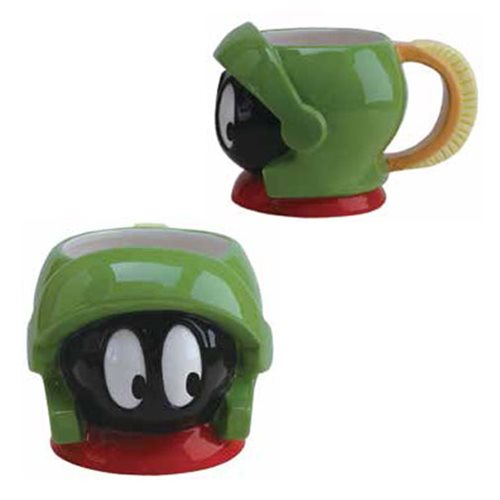 Looney Tunes Marvin The Martian Head 18 Oz Molded Mug