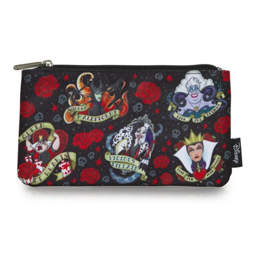 Disney Villains Tattoo Print Travel Cosmetic Bag