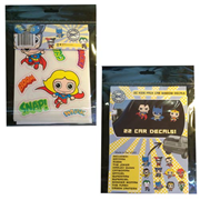 DC Comics Superhero Kids Car Window Decal Pack