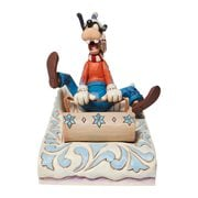 Disney Traditions Goofy Sledding A Wild Ride by Jim Shore Statue