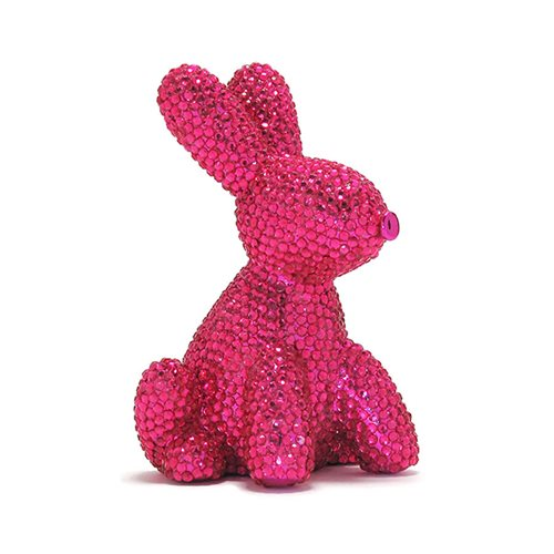 Balloon Animal Bunny Pink Glam Money Bank