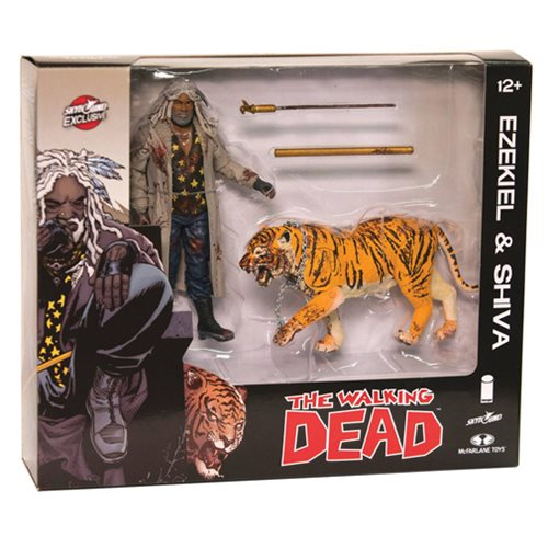 Walking Dead Comic Ezekiel & Shiva All Out War Bloody Figure 2-Pack