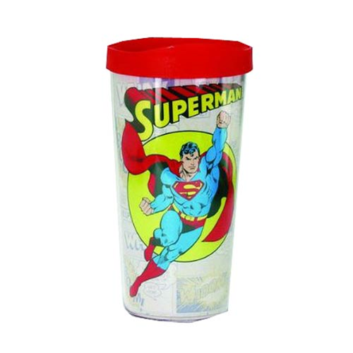 Superman Comic Panel Insulated Tumbler