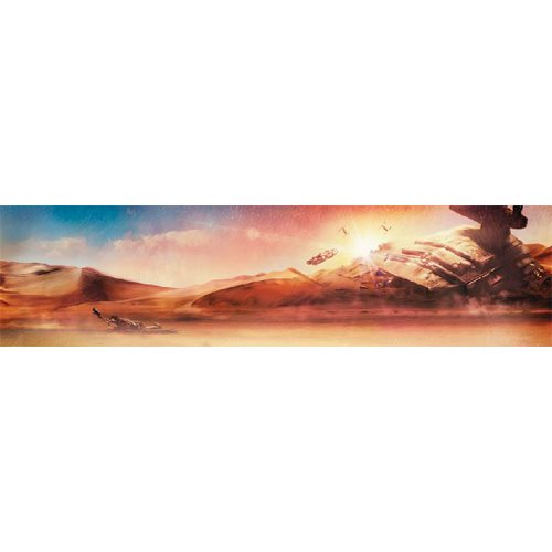 Star Wars Dogfight at Sunset by Rich Davies Gallery-Wrapped Canvas Giclee Art Print