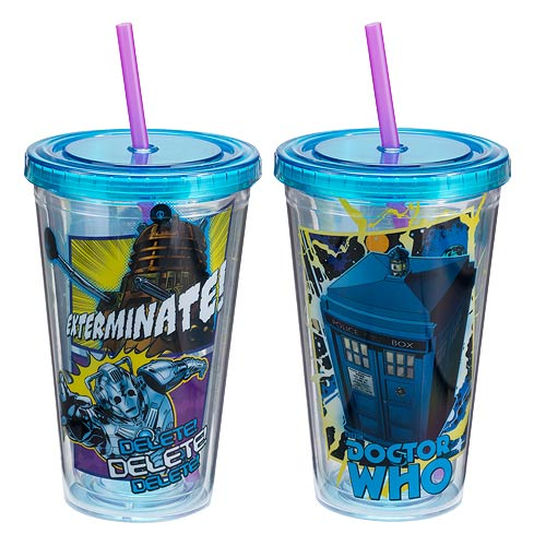 Doctor Who Comic Book 18 oz. Acrylic Travel Cup