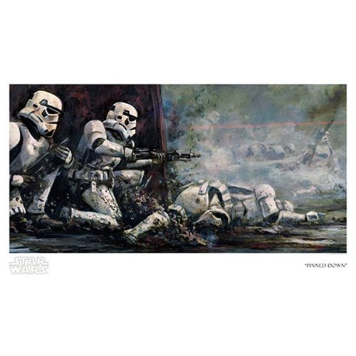 Star Wars Pinned Down by Cliff Cramp Paper Giclee Art Print