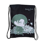 Attack on Titan Levi Black Drawstring Bag