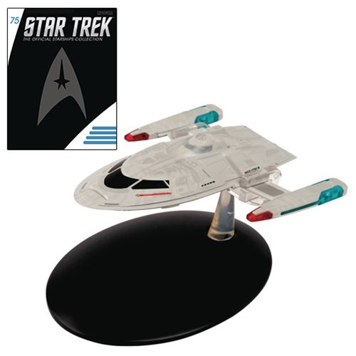 Star Trek Starships Enterprise E Captains Yacht Die-Cast Vehicle with Collector Magazine #75