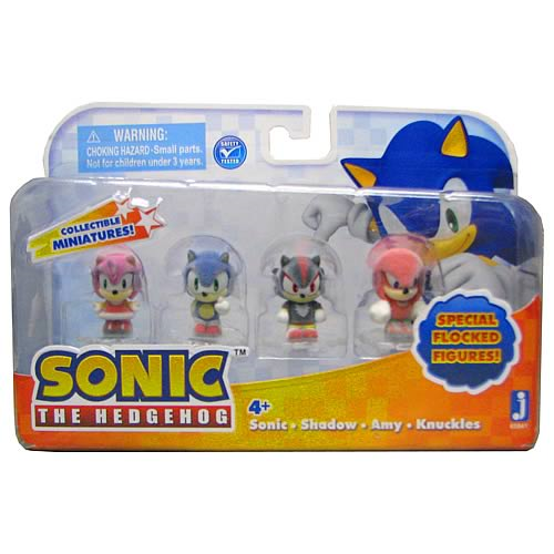 Sonic the Hedgehog 1-Inch Flocked Mini-Figures 4-Pack