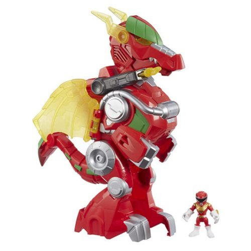 Power Rangers Red Ranger and Dragon Thunderzord Vehicle