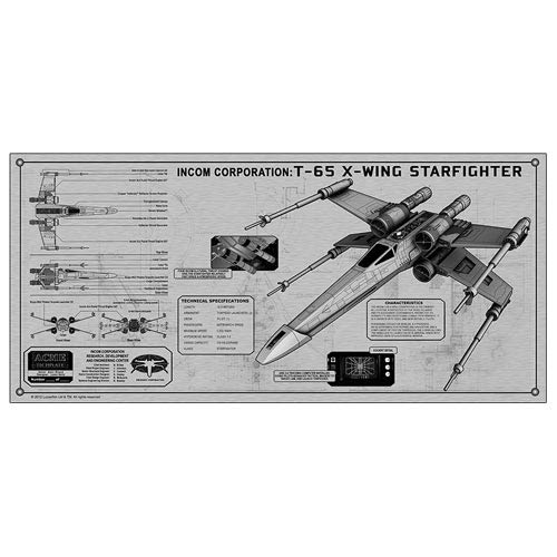 Star Wars X-Wing Fighter TechPlate Aluminum Spec Plate