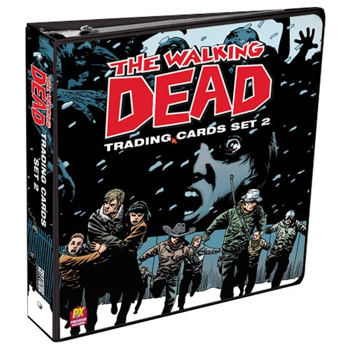 Walking Dead Comic Book Trading Cards Set 2 Binder