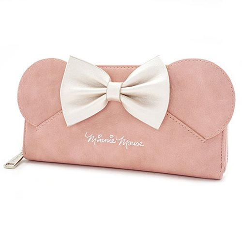 Minnie Mouse Ears Pink Zip-Around Wallet