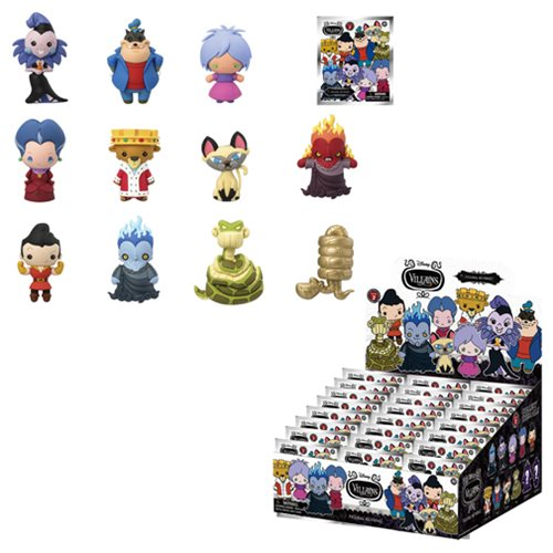 Disney Villains Series 2 3-D Figural Key Chain 6-Pack