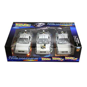 Back to the Future Movie Trilogy DeLorean 1981 Time Machine Die-Cast 1:24 Scale Vehicle 3-Pack