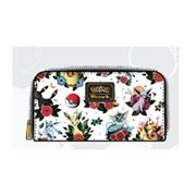 Pokemon Eevee Evolution Tattoo Print White Zip-Around Wallet