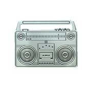 Boombox Antique Silver Pin