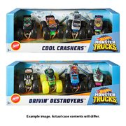 Hot Wheels Monster Trucks 1:64 Scale Mix 2 4- Pk Case