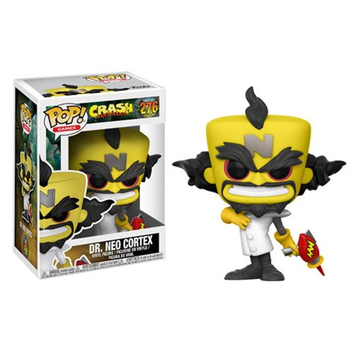 Crash Bandicoot Neo Cortex Pop! Vinyl Figure #276, Not Mint