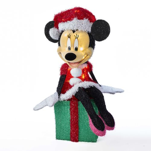 Minnie Mouse on Present 28-Inch LED Lawn Decoration
