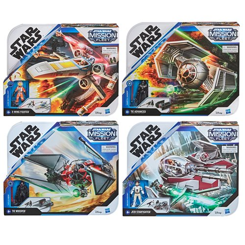 Star Wars Mission Fleet Stellar Class Vehicles Wave 2 Case of 6