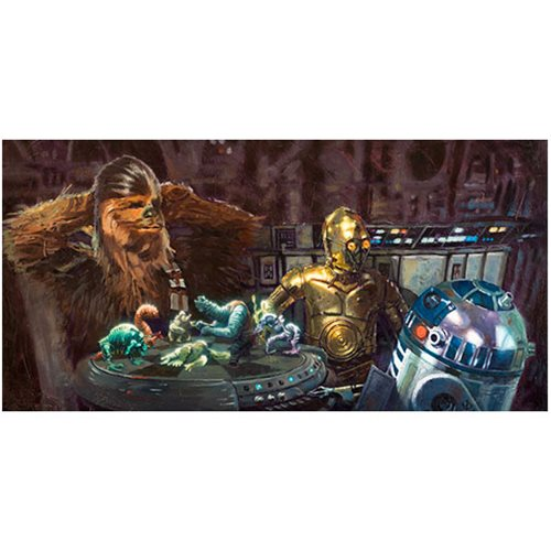 Star Wars Let the Wookiee Win by Christopher Clark Canvas Giclee Art Print