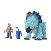 Jurassic World Imaginext Pachyrhinosaurus and Lowery 2-Pack