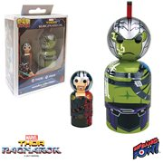 Thor: Ragnarok Thor and Hulk Pin Mate Wooden Figure Set of 2