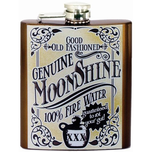 Genuine Moonshine Hip Flask