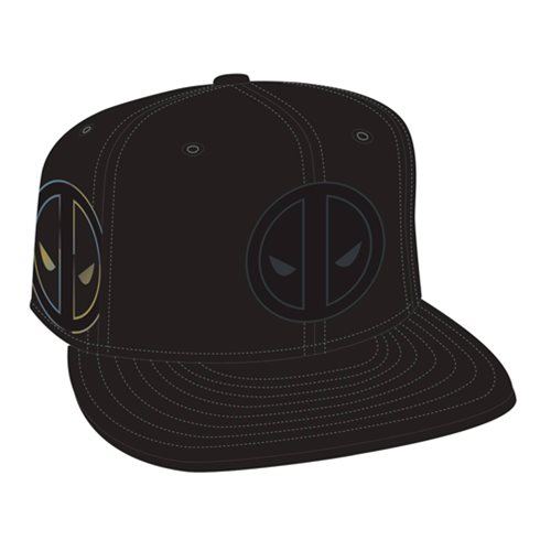 Deadpool Logo Side Flect Snap Back Cap