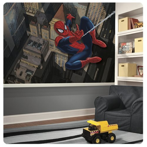 Ultimate Spider-Man XL Chair Rail Prepasted Mural