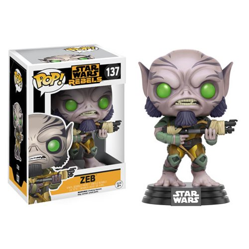 Star Wars Rebels Zeb Pop! Vinyl Bobble Head