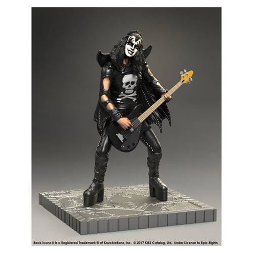 KISS Hotter Than Hell Gene Simmons Rock Iconz Statue