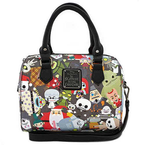 Nightmare Before Christmas Chibi Character Print Duffle Purse ... 1d0f02ccb192f