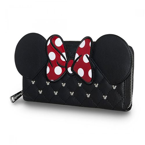 Minnie Mouse Bow Zip Around Wallet
