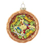 Teenage Mutant Ninja Turtles Pizza 3 1/2-Inch Glass Ornament