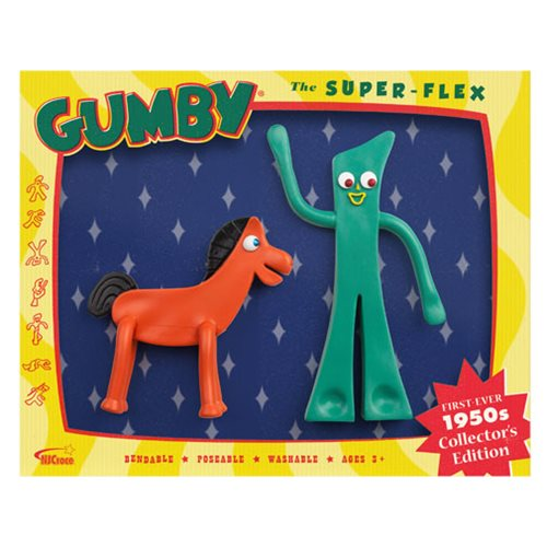Gumby and Friends Gumby and Pokey 1950s Bendable Figure Boxed Set
