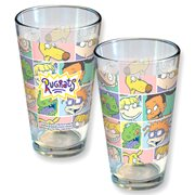 Nickelodeon Rugrats Pastel Block Pattern Pint Glass