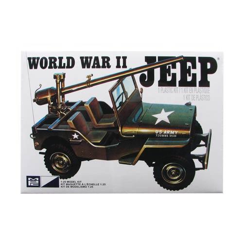 U S  Army World War II Military Jeep 1:25 Scale Model Kit