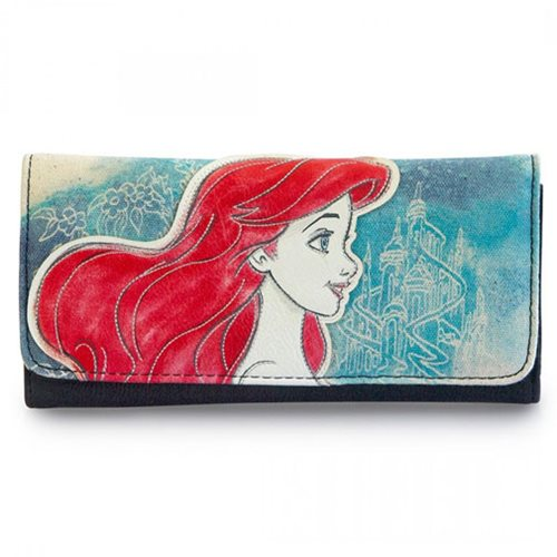 The Little Mermaid Ariel Printed Faux-Leather Wallet